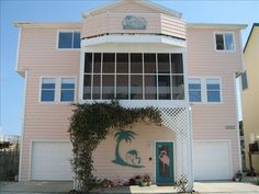 Surf City Vacation Rental - VRBO 351765 - 5 BR Topsail Island House in NC, One of the Biggest Decks on the Island....40' X 40' Oceanfront Deck with Hot Tub