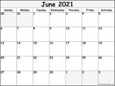 June 2021 calendar | free printable calendar templates