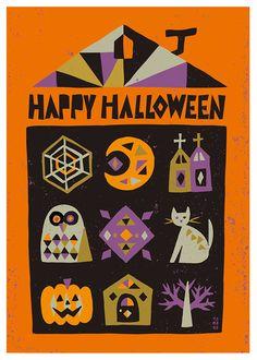 イラストレーター スズキトモコ|tomo-com.com Halloween Kids, Happy Halloween, Halloween Illustration, Kids Poster, Favorite Holiday, Kids Rugs, Fall, Color, Illustrator