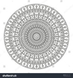 stock-vector-mandala-round-element-for-coloring-book-black-lines-on-white-background-abstract-geometric-780117181.jpg 1,500×1,600 pixels