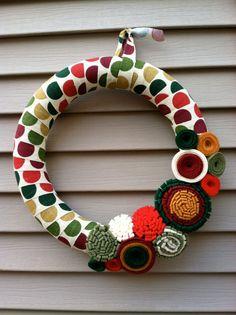 Felt wreath #christmas #cute