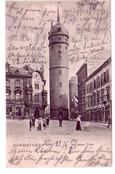 Der weisse Turm, gelaufen 14.06.1904, Verlag Klement L., Frankfurt,