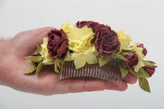 """Résultat de recherche d'images pour """"peigne fleurs cheveux"""""""