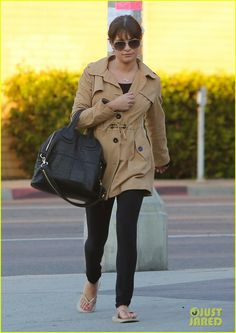 Lea Michele Wears 'Cory' Necklace to the Nail Salon