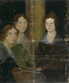 The Brontë Sisters (Anne Brontë; Emily Brontë; Charlotte Brontë), circa 1834  oil on canvas, 35 1/2 in. x 29 3/8 in