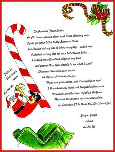 This is an image of Gorgeous Printable Letter Explaining Santa
