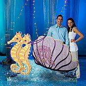 #MakeLifeMoreFun @shindigz  Atlantis Seahorse Chariot Stand In Underwater Theme, Under The Sea Party, Under The Sea Theme, Under The Sea Decorations, Ocean Party Decorations, Prom Decor, Atlantis, Mermaid Float, Mermaid Pool