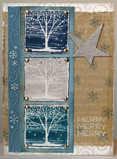 Textured trees   This card is for Hero Arts October challeng…   Flickr