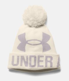 Women's Under Armour Pom Pom Beanie. Classic look. All day comfort and warmth.