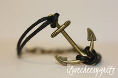 LONGING Handmade Bracelet BLack Leather by ilovecheesygrits, $7.95