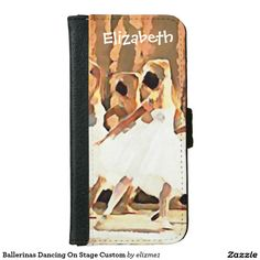 Ballerinas Dancing On Stage Custom iPhone 6/6s Wallet Case with a beautiful graphic design. Just add your name or text!