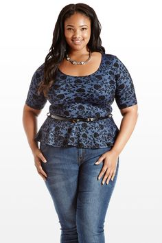 To Bloom It May Concern Floral Peplum Top