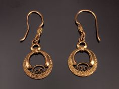 Antique Gold Filled Earrings Victorian by BelmontandBellamy
