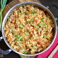 Chorizo Chicken Jambalaya - because everybody has Jambalaya for Easter dinner. :)