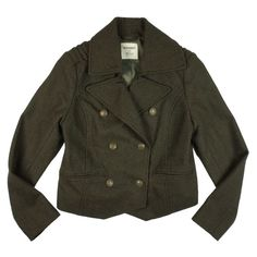 """OLD NAVY Army Green Military Pea Coat Jacket Mint as new condition. Never worn NWOT. This army olive green coat from old navy features a military inspired style with button closures, a cropped fit, and is fully lined. Made of a wool blend. Measures: bust: 38"""", Total Length: 22"""", Sleeves: 25"""" Old Navy Jackets & Coats Pea Coats"""