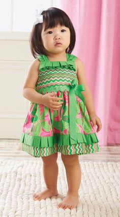 Mud Pie Little Sprout Pleated Ruffle Sun Dress   Mud Pie at In Fashion Kids