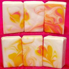 The Cut: POGY - Pineapple Orange Grapefruit Yuzu Invigorating Shampoo Bars with Pro-Vitamin B5, Nettle, & Cocoa Butter from 9-bar mold using pipe divider swirl. *  Blog: https://soapsbysly.wordpress.com/2017/01/23/pog-pogy-shampoo-bars-2-batches/ * #SoapShare #soapmaker #soapmaking #soapchallenge #cpsoap #soap #coldprocessoap #lovesoap #artisansoap #luxurysoap #lovetosoap #soaping #soapartisan #handcraftedsoap #handmadesoap #handmade #handcrafted #luxurious #buyhandmade #soapbar…