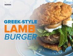 Savor the juicy flavors of the Mediterranean with this Greek spiced lamb burger, made with asparagus, lemon, garlic, tahini and paprika.