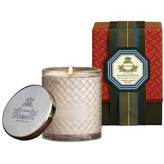 **AGRARIA - MEDITERRANEAN JASMINE WOVEN CRYSTAL CANDLE AgrariaMediterranean Jasmine WovenCrystal Candle is an exquisite bouquet of favorite florals: Mediterranean jasmine, blooming honeysuckle, gardenia buds, freesia, lily of the valley and tuberose.  Agraria Woven CrystalCandles are presented in a woven crystal glass and silver-plated lid with the Agraria crest. The design is a modern interpretation of the woven palm leaf cases used for 20 years beginning in the early 1980s.Agrarias…