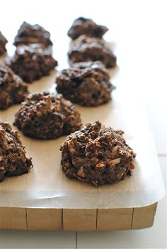 Chocolate Coconut Oatmeal Clusters by bevcooks: Mmmm warm and gooey....almost breakfast? #Oatmeal #Chocolate#Coconut