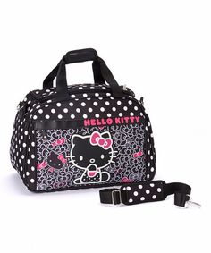 Another great find on #zulily! Black & Pink Hello Kitty Weekend Bag by Loungefly #zulilyfinds