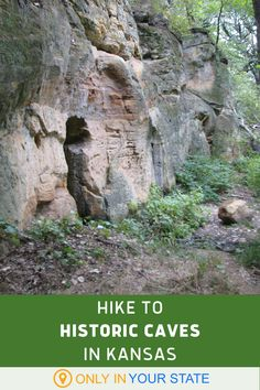 Enjoy a scenic hike to caves carved out of natural stone. Find them in Kanopolis, Kansas! Oh The Places You'll Go, Places To Visit, Adventure Bucket List, Hidden Beach, Local Attractions, Rv Life, Out Of This World, Caves, Hiking Trails