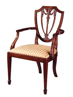 Henkel Harris Shield Back Arm ChairV Van likes fabric pattern