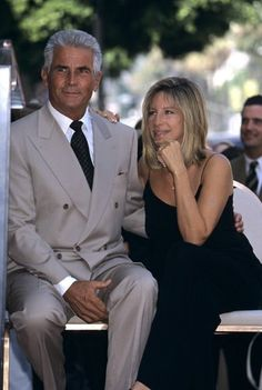 Barbra Streisand and James Brolin during a ceremony honoring James Brolin with a Star on the Hollywood Walk of Fame