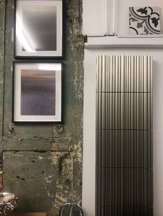 No two are the same- just like in nature. Photographed in our Crouch End showroom. Vertical Radiators, Designer Radiator, Showroom, Bamboo, Living Room, Unique, Nature, Naturaleza, Living Rooms