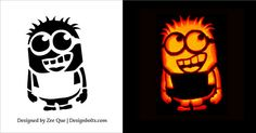 Cute, Funny, Cool & Easy Halloween Pumpkin Carving Patterns ... More