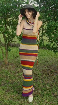4th Doctor's Scarf Dress by RebelATS Not something I could/would wear, but wow!