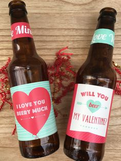 Valentines Beer Labels Valentines Gift for Him Gift for Husband Beer Lover Gift Valentines Day All Y