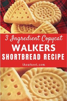 We have the Copycat Walkers Shortbread Recipe and it tastes every bit as good as the original. Are you excited? You only need 3 simple ingredients . Walkers Shortbread Cookies, Buttery Shortbread Cookies, Shortbread Recipes, Shortbread Cookie Recipe Scottish, Shortbread Biscuits, Best Shortbread Recipe Ever, 3 Ingredient Shortbread Cookie Recipe, Walkers Cookies, Gastronomia