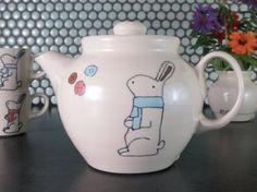 Handmade Ceramic Teapot  Bunny Rabbit Teapot . abbyberkson sure knows her tea !!!!!