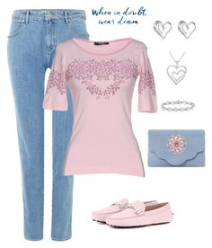 """""""Untitled #173"""" by gdhlady on Polyvore featuring Wrangler, VDP, Tod's, Dune and Anne Klein"""