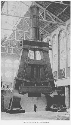 В 1891 году в Америке, штат Пенсильвания, на Вифлеемской сталелитейной компании был смонтирован самый большой паровой ковочный молот в мире с ударной частью весом 113 тонн. Удар 113-тонного молота, падающего с высоты 5 метров, каждый раз создавал мини-землетрясение. Через 2 года он был демонтирован в связи с опасностью, которую он представлял для цеха и окружающих построек.