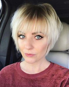 23 Best Short Hairstyles for Women with Fine Hair Explore 23 chic and trendy short hairstyles for fine hair - including pixie cuts, bobs, and bangs. Our looks are easy to style and maintain. Medium Hair Styles, Short Hair Styles, Popular Short Haircuts, Short Layered Bob Haircuts, Pixie Haircuts, Cool Haircuts For Women, Short Bob With Fringe, Short Shaggy Bob, Bob Style Haircuts