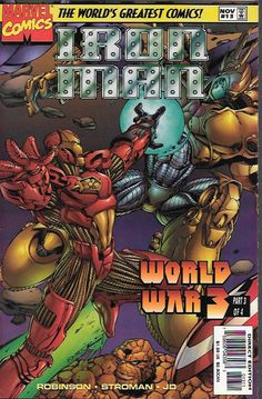 """World War 3 Pt.3 """"No time to Mourn"""" ____ Story by James Robinson . Art by Larry Stroman and JD McWeeny , And Cover By Tom Raney The Story ....Galactus has arrived on the Heroes Reborn Earth and not on"""