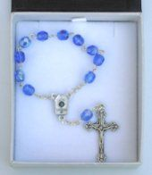 Rosaries One decade and handheld bosary Beads containing Lourdes water drawn from the spring at the grotto all depicting the apparitions. One Decade, Water Drawing, Our Lady Of Lourdes, Rosary Bracelet, Rosaries, Beads, Crystals, Pendant, Silver
