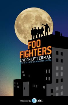 Foo Fighters, Live on Letterman Poster| <3 this show...it's taped in mostly B/W & they're dressed like the Beatles!