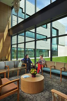PHOTO TOUR: Providence Medical Park   Healthcare Design --- Circulation corridors and waiting areas are placed at the building perimeter to take in views of the landscape. Photo: Benjamin Benschneider/Mahlum