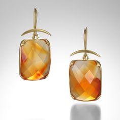 41d90cc030 Carnelian Earrings by Gabriella Kiss  QUADRUM Black White Gold