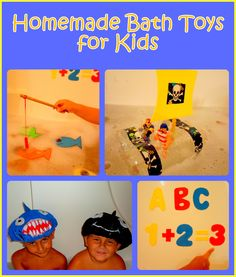 Homemade Bath Toys for Kids