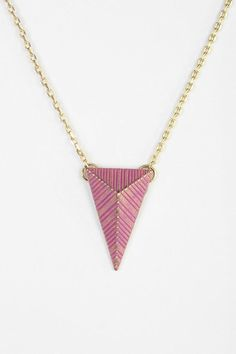 Painted Geo Necklace #urbanoutfitters