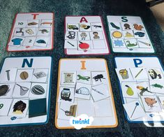 This fun bingo matching activity helps to reinforce the key words of this topic while encouraging your children to practise image to word recognition skills. Letter Sound Games, Letter Sound Activities, Alphabet Activities, Jolly Phonics Activities, Teaching Phonics, Kids Learning Activities, Initial Sounds, Letter Sounds, Phonics Cards