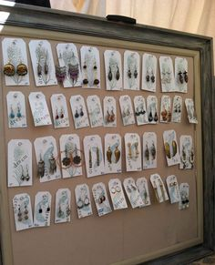 vertical earring display