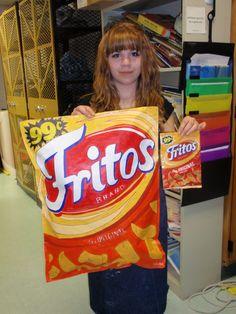 Giant Pop Art Snack Bags