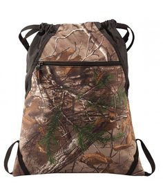 Drawstring Backpack Bag - Camo Patterned - Camouflage Outdoor Backpacks  with Adjustable Web Straps - CG185UWHLAG 7f5cef0320