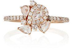 Rose Gold White Diamond Engagement Ring
