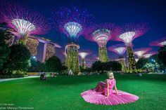 Surreal Supertree Grove in Gardens by the Bay where you can feel like Alice in Wonderland. Specially in the evening sitting on the grass and watching everyday concert of lights changing with the music. Wonderland is here... Gardens by the Bay, Singapore  Travel to Singapore with @iveseen
